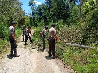 Kompak! Beginilah Potret Sinergitas TNI-Polri di Kecamatan Curio