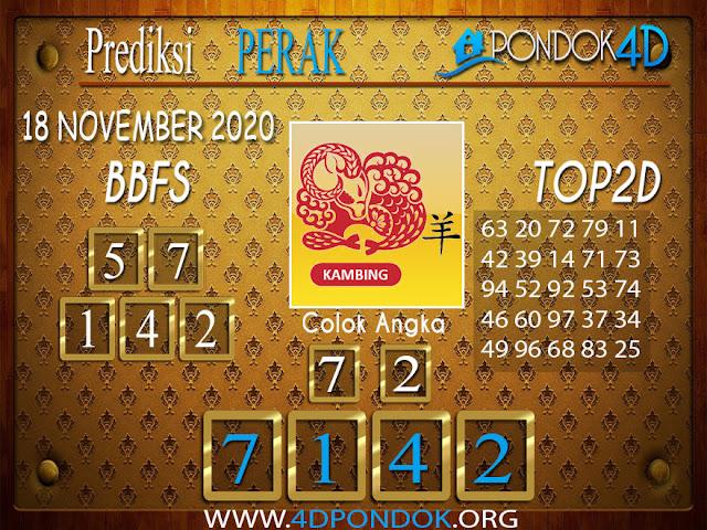 Prediksi Togel PERAK PONDOK4D 18 NOVEMBER 2020