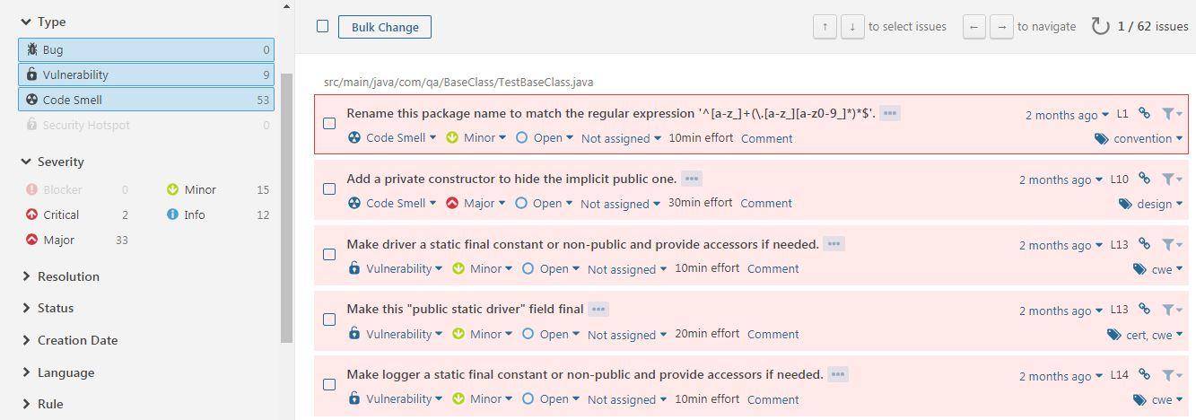 SonarQube integration with Selenium Scripts - QA Automation