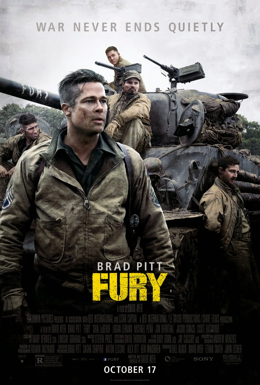 Fury  2014 DVDSCR ταινιες online seires oipeirates greek subs