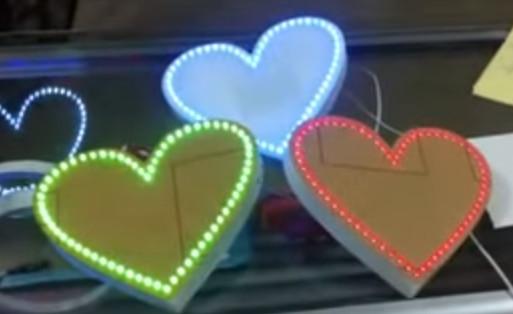 Trái tim 64 led kích thước lớn