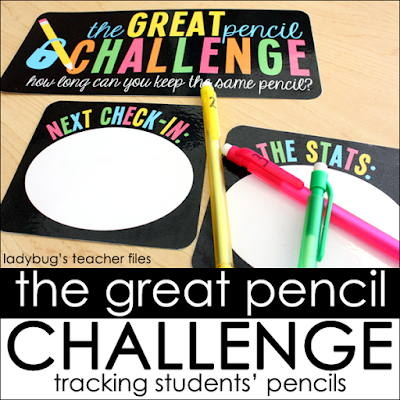 https://www.teacherspayteachers.com/Product/The-Great-Pencil-Challenge-Posters-and-Record-Sheets-757073