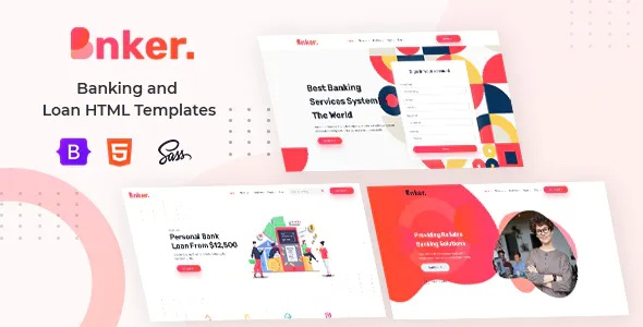 Best Banking and Loan HTML Templates + RTL