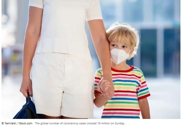 Number of international virus cases tops sixteen million: AFP tally