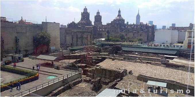 Ruinas do Templo Mayor na Cidade do México