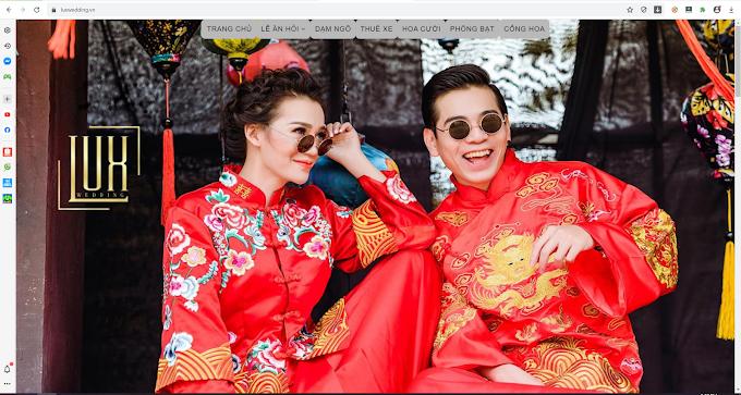 Template blogspot dịch vụ cưới hỏi + làm đồng phục quần áo.
