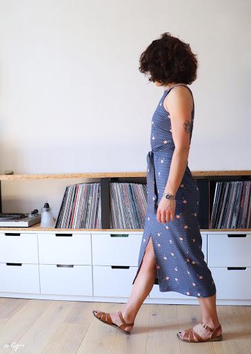 """Une """"Axis Dress"""" pour Lo... (Patron de chez Papercutpatterns) par m Gg++"""