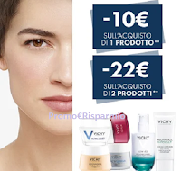 Logo Vichy Efficacia Antietà : sconto immediato di 10 euro o di 22 euro