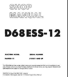 Shop Manual Bulldozer Komatsu D68Ess-12