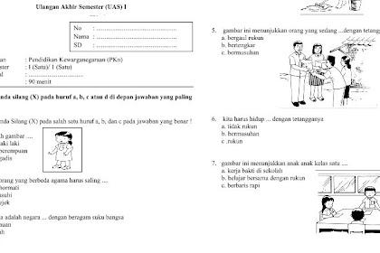 5+ Soal PPKn Kelas 1 SD/MI Kurikulum 2013 dan Jawabannya