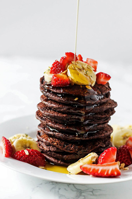 Pancake Day Healthy Recipe Chocolate & Banana Gluten Free & dairy Free Pancake Recipe