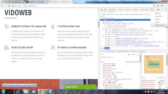 Cách Lấy CSS Của 1 Trang Web Với Extension Snappy Snippet