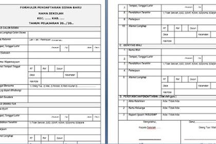 Contoh Formulir Pendaftaran Siswa Baru yang Baik