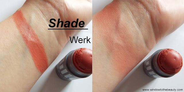 Lip + Cheek Stick in The Shade Werk swatches