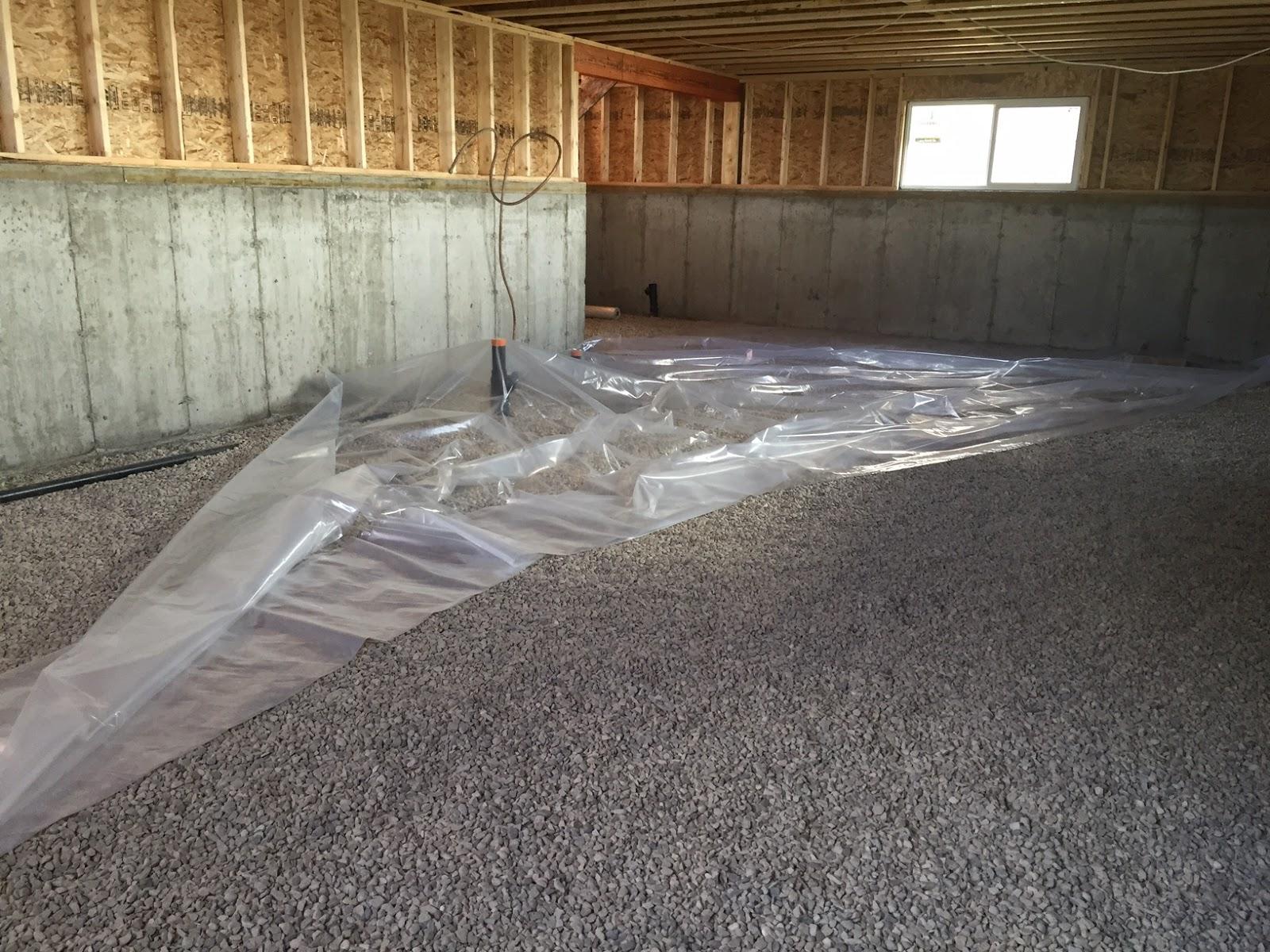 How to build a house step 10 pour basement concrete for Concrete basement