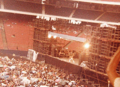 Ted Nugent on stage at Giants Stadium August 6, 1978