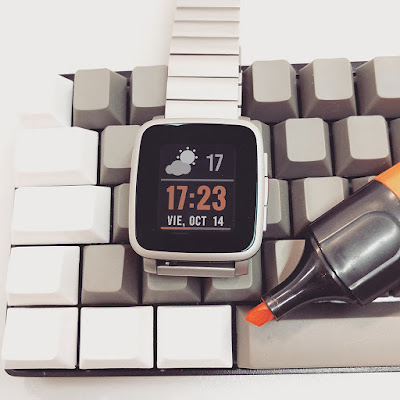 CLEAR Plus watchface - Pebble Time Steel