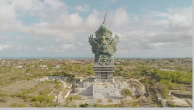 Garuda Wisnu Kencana (GWK) tinggi 120 meter, Indonesia - pustakapengetahuan.com