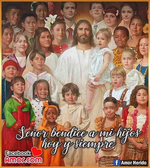 frases de Jesús y niños