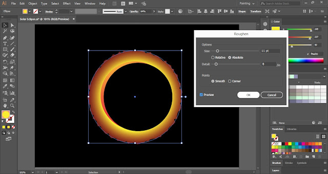 Solar Eclipse in Adobe Illustrator