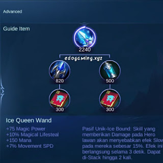 penjelasan lengkap item mobile legends item ice queen wand