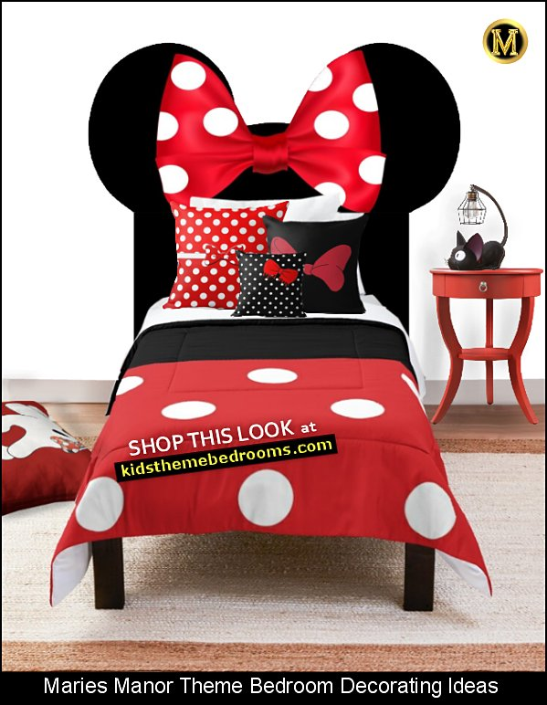 MINNIE MOUSE dress bedding mickey mouse bedroom decor minnie mouse decor