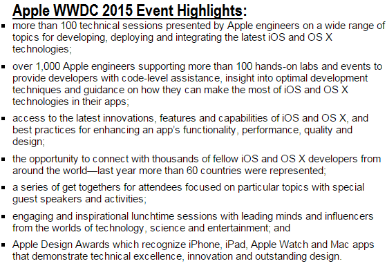 Apple WWDC 2015 Event Highlights