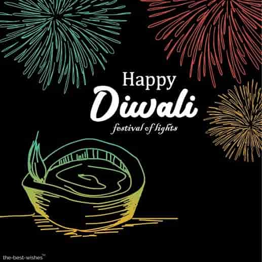 happy diwali images black and white