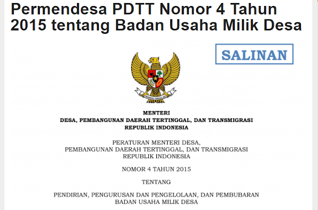 Mengenal Organisasi Pengelola BUMDes Menurut Permendesa PDTT Nomor  Mengenal Organisasi Pengelola BUMDes Menurut Permendesa PDTT Nomor 4 Tahun 2015