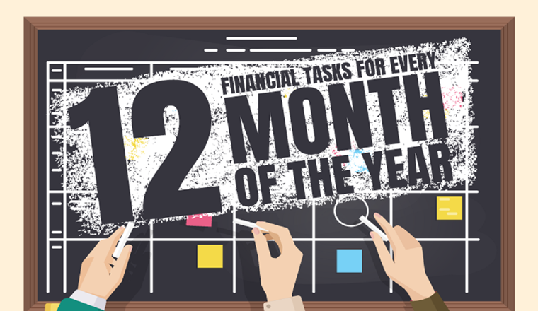 12 Financial Tasks for Every Month of the Year #infographic
