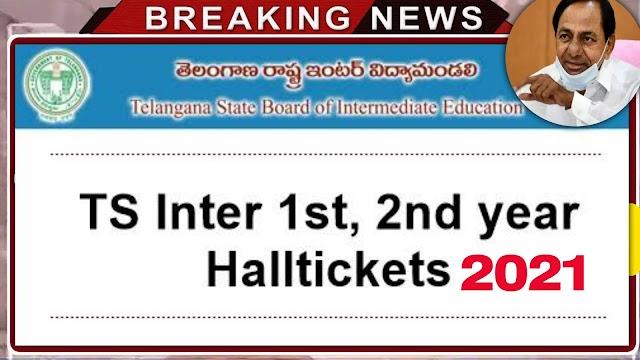 TS Inter Halltickets Download 2021 | Ts intermediate 1st and 2nd year Halltickets download 2021 | Telangana inter Halltickets Download