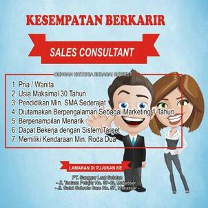 Lowongan Kerja Sales Consultant di Honda Sanggar Laut Selatan Group