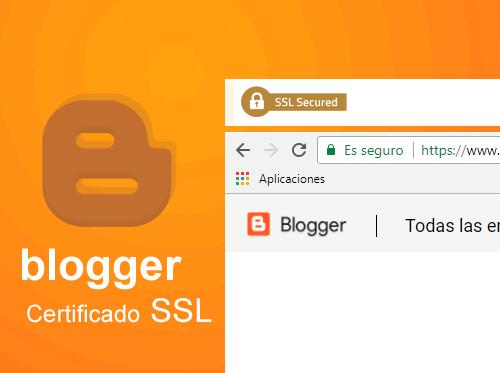 Certificado SSL para dominios personalizados de Blogger