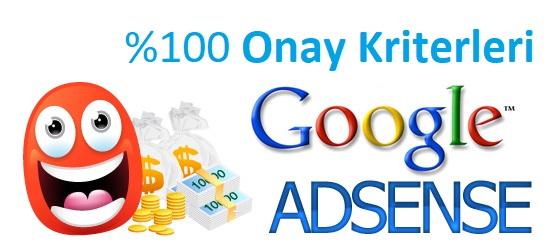 Google AdSense Başvuru Onay Kriterleri