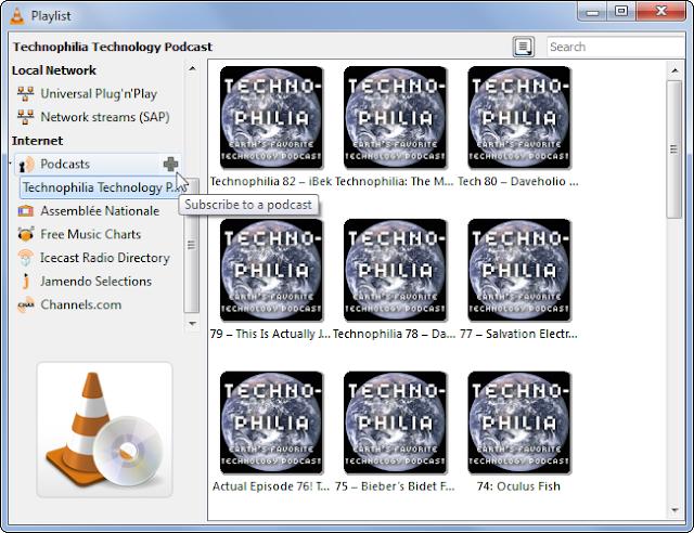 VLC-berlangganan podcast