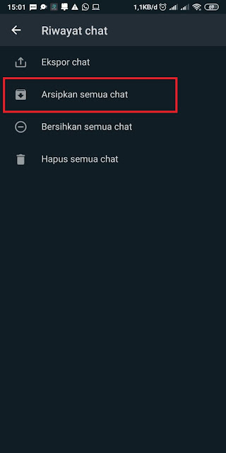 Cara Menyembunyikan Chat di WhatsApp 5