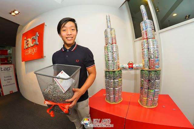 Jensen Wong walked away with a pair of tickets to the Wicked Festival 2013 for donating the biggest collection of pop tabs for The pop Tap Project.