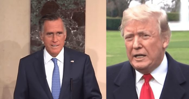 Mitt Romney Stabs Trump In Back, Introduces Bill To Block POTUS From Taking Funds For Border Wall