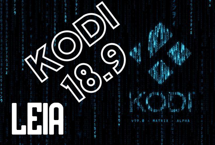 Descarga Kodi 18.9 LEIA