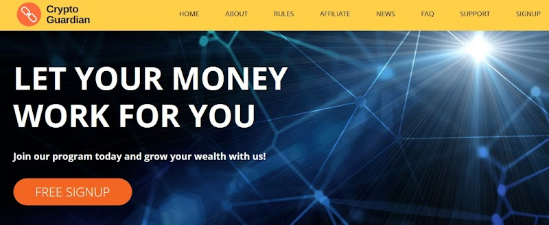 Мошеннический сайт cryptoguardian.biz – Отзывы, развод, платит или лохотрон? Мошенники