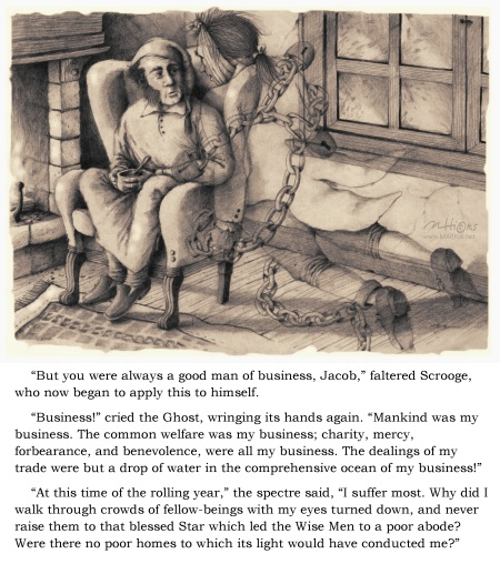 An old, but yet still very appropriate, passage from A Christmas Carol by Charles Dickens