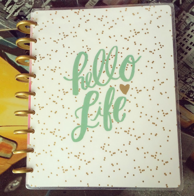 happy planner hello life front cover