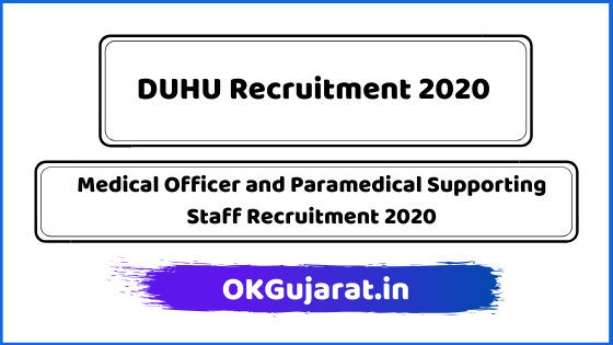 Medical Officer & Paramedical Supporting Staff Recruitment 2020