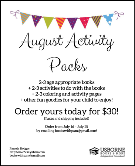 August Activity Packs
