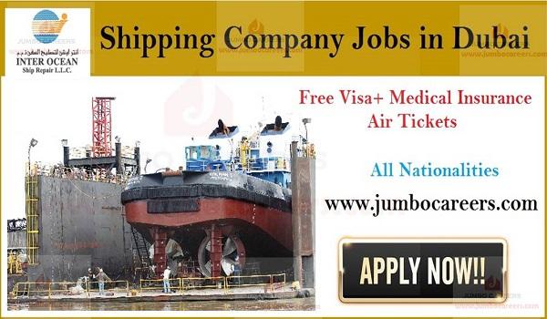 Latest Shipping Company Jobs in Dubai with Free Visa