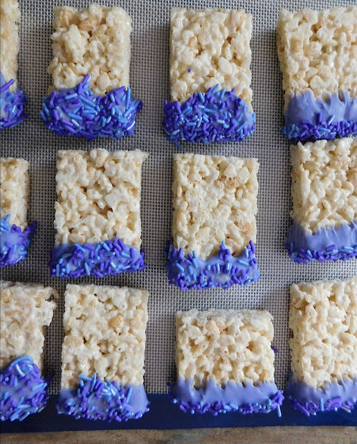 Lavender Rice Krispy Treats