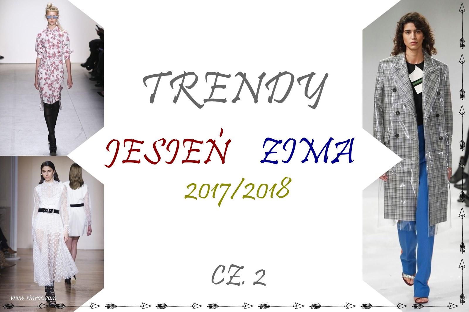 trendy jesień/zima 2017: krata, kwiaty, grochy, garnitury