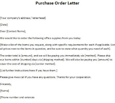 purchase request letter – Purchase Request Letter