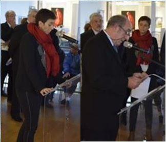 La cérémonie du 11 novembre 2017 à l'Embarcadère à Montceau-les-Mines