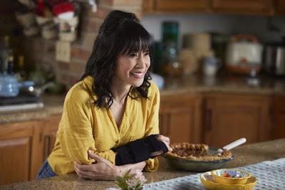 Aunt Carol played by Lauren Tom in Sweet Pecan Summer